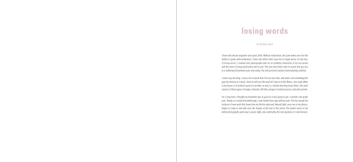 Rachael Jablo My Days of Losing Words