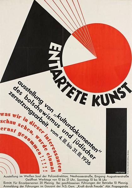 Typographie des Terrors Plakate in München von 1933 bis 1945